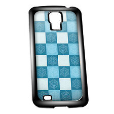 Cover for Galaxy S4 case #294 Blue Snowflake tiles Christmas Gift Idea Winter