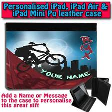 PERSONALISED BMX VECTOR IPAD MINI AIR LEATHER CASE 027