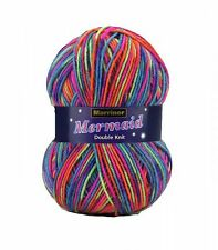 MARRINER YARNS MERMAID DOUBLE KNIT - 100g - 7 COLOURS AVAILABLE