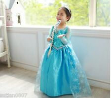 IN-STOCK Frozen Elsa Costume Disney Princess Girls Child Fancy Dress 3-8Y FE002