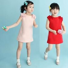 Baby Kids Girls Summer Sleeveless Flower Princess Party Dress Skirts Dress