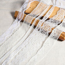 20m Vintage Ivory White Lace Bridal Wedding Trim Ribbon CRAFT Shabby Chic