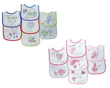 Baby Patterned 7 Days Of The Week Bibs in Boys & Girls Options (Pack of 7)