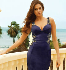 LIPSY NAVY LACE MIDI BODYCON DRESS 10 12 14 16 £65! NEW IN BNWT NEXT DAY POSTING