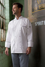Uncommon Threads Provence chef coat, white with black trim, XS to 6XL, 0442C