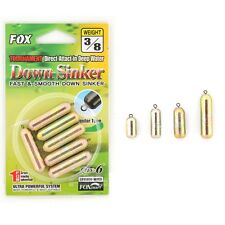 FOX Brass Down Sinker Weight Drop Shot Rig Slim Type For Great Fishing