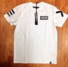 "The ""Hyrex Vision"" Shirt by Hudson NYC  In White Front & Back GraphicH"