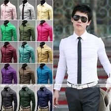 2014 Fashion Men's Shirt Suit Casual Candy Color Long Sleeve Stylish Smart Work