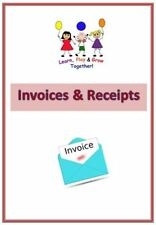 A4 Childminder*** Invoice & Receipt readymade book***, Childminding