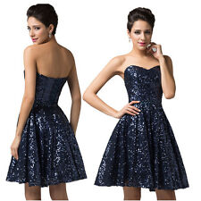 2014 Bridesmaid Sequins Wedding Carnival Evening Prom Formal Summer Party Dress