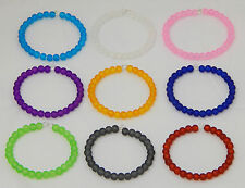 130 Pcs  FROSTED GLASS ROUND BEADS 6mm size JEWELLERY / CRAFT COLOUR CHOICE