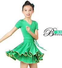 Childrens Latin Salsa Ballroom Dance Dress Girls Dancewear Costumes #FY049