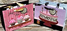 cOLORIFICS Choice of Small Leopard Gift Bags w/Tag - Birthday Cake or Cup Cakes