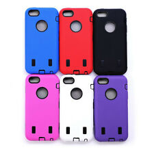 Hybrid 3 Layer Protection TPU Armor Hard Inner Case Cover for iPhone 5C 6 Colors