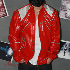 Michael Jackson Beat It Jacket with 26 Zippers MJ Costume replica MJBJR