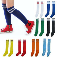 Children Boy Sport Football Soccer Above Knee Tube Socks Stocking multi-Colors