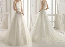 2014 New One Shoulder Beads Sash Ball Gown Lace Wedding Dress Bridal Gowns 6 8++