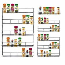 1-5 TIER CHROME SPICE RACK HERB JAR RACK HOLDER FOR WALL OR KITCHEN CUPBOARD
