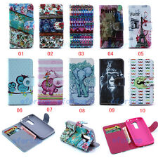 Fashion Flip Printed Lovely Design PU Leather ID Card Stand Case Cover For Phone