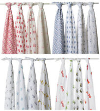 Aden + Anais 4 Pack  100% Cotton Muslin Swaddle Wrap Blankets 444700
