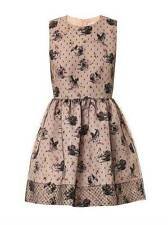 2014 NWT AUTH RED VALENTINO Tulle-overlay swan-print dress In Blk or pink $1025