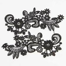 1 Pair Fabric Venise Venice Floral Flower Motif Lace Trims Sew Applique Craft