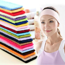 Candy Colors Fashion Ladies Hair Clasp Sports Elasticity Towel Material Headband