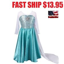 NEW Disney Frozen Elsa Costume Anna Princess Halloween Dress Girl Cosplay Kids