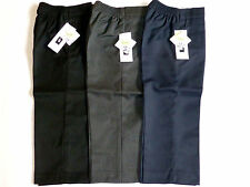 AGES 2-8  YRS PULL-UP SCHOOL BOYS TROUSERS-BLACK/GREY/NAVY-TEFLON PROTECTOR