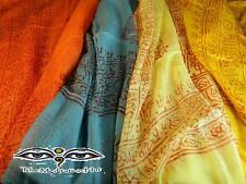 Hindu Spiritual Rayon Scarves with Finished Ends - Mix Colored Handloom Scarf