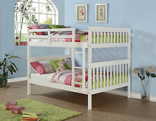 FULL OVER FULL BUNK BED - SOLID WOOD - WHITE FINISH