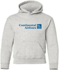 Continental Airlines Retro US Airline Logo HOODY