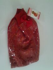 Simply Dog Red Sequins Girl Sweater Dog Clothes in 4 Sizes