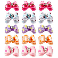 50/100pcs Polka Dot Diamond Pet Cat Dog Hair Bows Grooming Accessories Wholesale