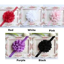 Bow Lace Flower Ruffle Baby Girl Kids Head Band Hairband for Wedding/Christening