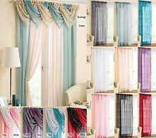 Blanc Voile Net Curtain Panel With Slot Top Rod Pocket, Matching Swag Available