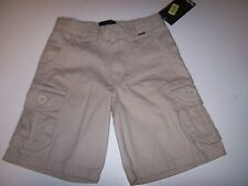 NEW Hurley light khaki chino beige brown cargo shorts boys sz 4  5  6 7 8 10