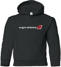 Virgin Atlantic Airways Retro British Airline Logo HOODY