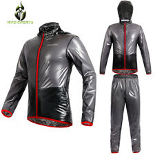 Rainsuit Hi Viz Waterproof Storm Jacket Trouser Set Unisex Rain Coat Workwear