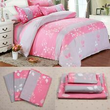 Single Queen/Double King Duvet Cover with Pillow Case Quilt Cover Bedding Set