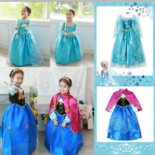 GENUINE HOLLOWEEN Frozen Disney Princess Girl Elsa Anna Cosplay Costume Dress SZ