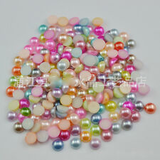 wholesale 3-14mm multicolor Cabochon Half Round Flatback imitation Pearls DIY