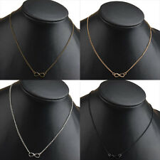 Fashion Infinite Infinity Sign Pendant Cute Simple 8 Symbol Charm Necklace Chain