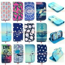 For Samsung Galaxy S3 mini i8190 PU Leather Wallet Card Case Flip Stand Cover