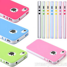 TPU Silicone Rubber Bumper Case Cover For Apple iPhone 4/4S
