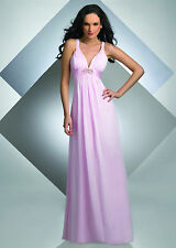 SEXY CHIFFON V FRONT PROM PARTY BRIDESMAID OR WEDDING DRESS  SIZE 4 TO 30