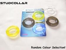 STUDCOLLAR-STAYHARD-DONUTS - Rubber penis rings, erection/impotence aids