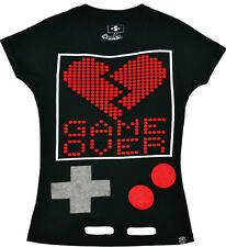 "Poizen Industries ""Game Over"" Skinny T Camicia"