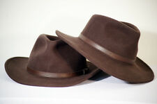 Steampunk-1940's-4th Doctor-Indiana Jones Woolfelt BROWN FEDORA-TRILBY Hat
