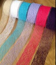 50mm Angel Hair / Spider Web Ribbon Trim Floristry, Cardmaking, Millinery, Craft